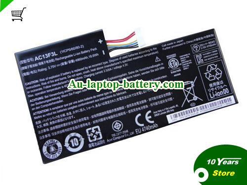 ACER 1ICP5/60/80-2 Battery 4960mAh, 18.6Wh  3.75V Balck Li-ion