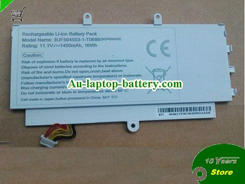 AU ACER 3UF504553-1-T0686(3ICP5/55/53) battery 16Wh White