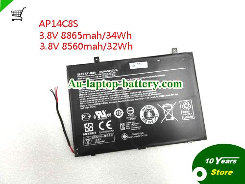 AU Genuine ACER Aspire Switch11 Laptop Battery AP14C8S 32Wh 8560mah