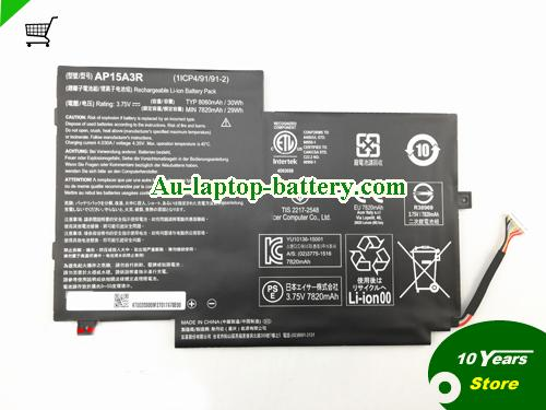 AU ACER AP15A3R Aspireswitch 10E SW3-013P Laptop Battery 30Wh