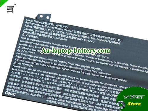 AU ACER AP18JHQ Battery Li-Polymer 15.2V 84.36Wh Rechargeable