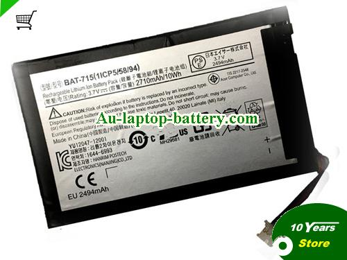 AU Acer IconiaTab B1 B1-A715 Battery 10Wh 3.7V li-ion