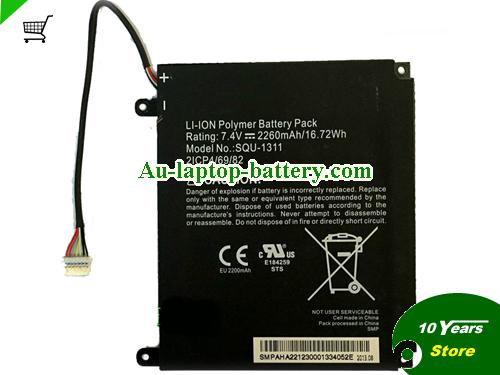 ACER 2ICP4/69/82 Battery 2260mAh, 16Wh  7.4V Black Li-ion