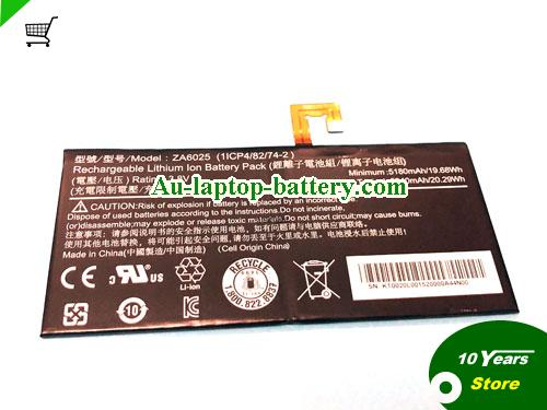ACER 1ICP48274-2 Battery 5180mAh, 19.68Wh  3.8V Black Li-Polymer