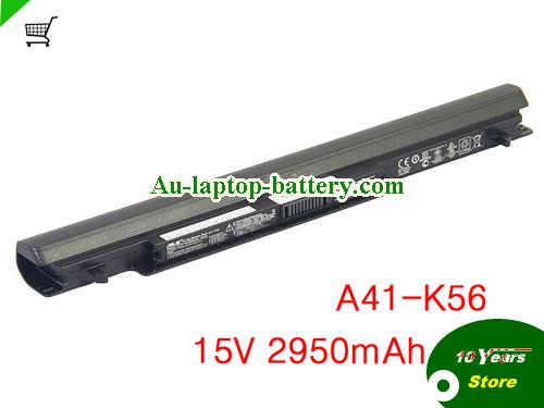 AU Genuine A41-K56 battery for ASUS K46 S56 S46CM S505 S505C E46CA laptop 15V