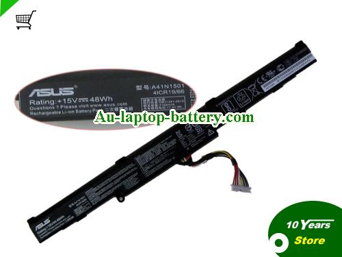 AU ASUS A41N1501 Battery For GL752  N552VX Series Laptop 48wh