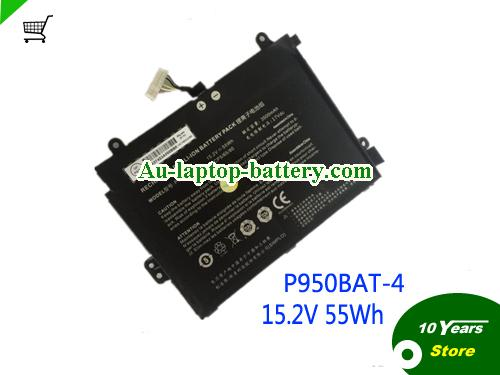 AU CLEVO P950BAT-4 Laptop Battery 3500mah 15.2v 55wh