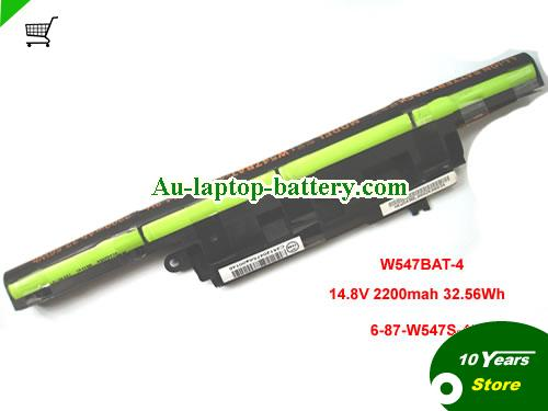 CLEVO 6-87-W547S-424 Battery 2200mAh, 32.56Wh  14.8V Black Li-ion