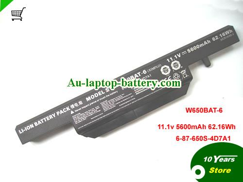 AU Original Clevo 5600mah  W650BAT-6 Battery For K570N K710C K610C K590C-I3 laptop