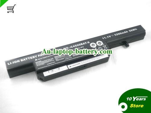 CLEVO C4500BAT-6 Battery 5200mAh 11.1V Black Li-ion