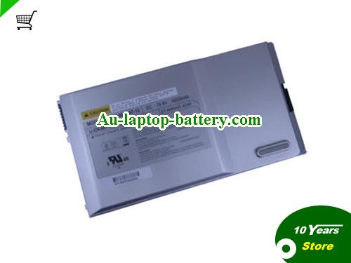 CLEVO 87-M45CS-4D4 Battery 6600mAh 14.8V Silver Li-ion
