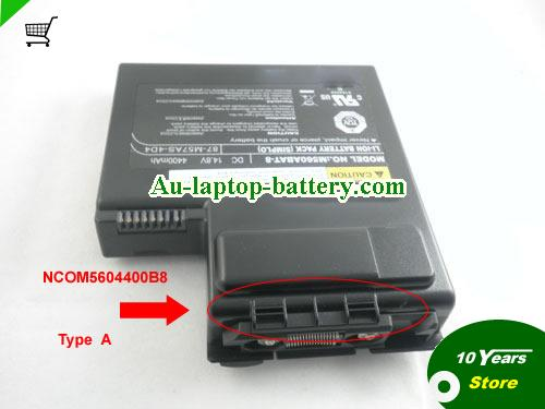 CLEVO 87-M57AS-404 Battery 4400mAh 14.8V Black Li-ion