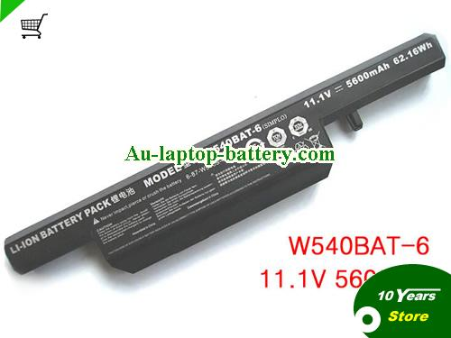 AU W540BAT-6 W540S battery for Clevo W540 W540EU W54EU W550 W550EU W55EU