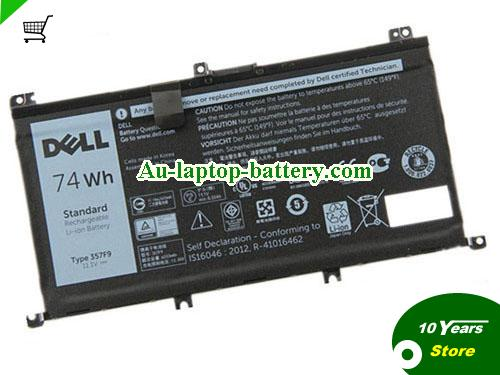 AU Dell 357F9 71JF4 Battery For Inspiron 15-7559 7757 7566 7567 Laptop 74wh