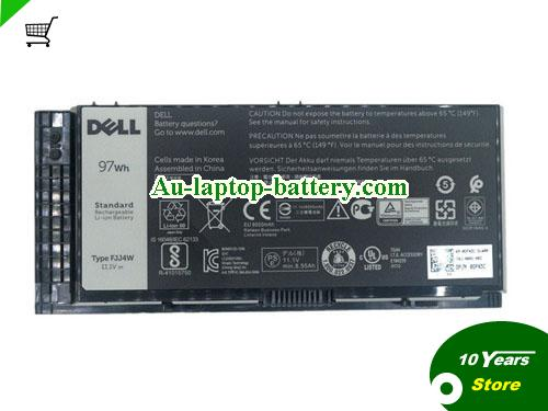 Dell 97KRM Battery 8700mAh, 97Wh  11.1V Black Li-ion