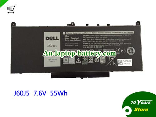 AU 7.6V 55Wh J60J5 Battery For Dell Latitude E7270 E7470