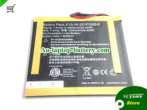 AU New ADVENT VEGA P10-34-2S1P3300-0 Battery for ViewSonic 10S Tab,NVIDIA Tegra 2