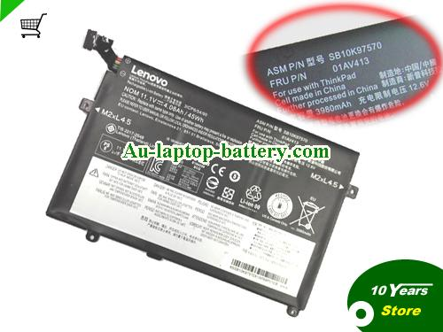AU New Genuine 01AV413 01AV412 Battery For Lenovo ThinkPad E470 E475 Laptop
