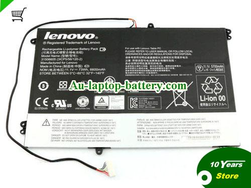 LENOVO Horizon 2 27 Table PC Battery 6600mAh, 73Wh  11.1V Black Li-ion