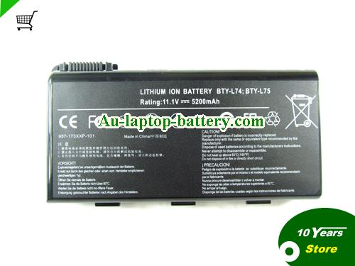 AU New MSI A6200 A6000 CR700 BTY-L74 BTY-L75 Replacement Battery