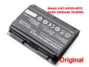 For P150HM -- Genuine Clevo 6-87-X510S-4D72 P150HMBAT-8 P150 P150EM PC Battery